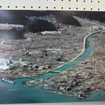 震災前の南三陸町の志津川地区 掲示写真