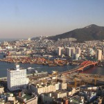 釜山タワーから眺める景色