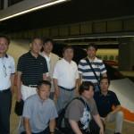 台湾新幹線乗り場で記念写真